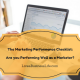 Marketing performance, productivity checklist, Live a Business Life