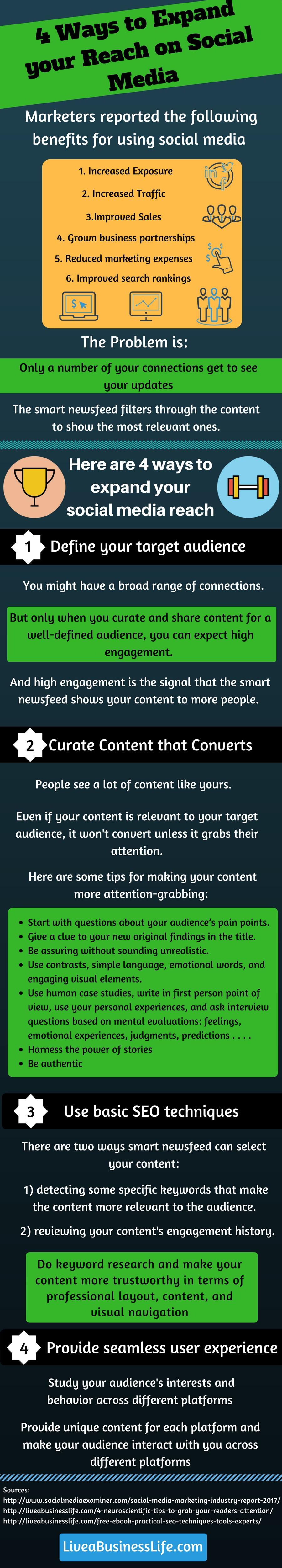 4 Ways to Expand Your Reach on Social Media -- LiveaBusinessLife.com
