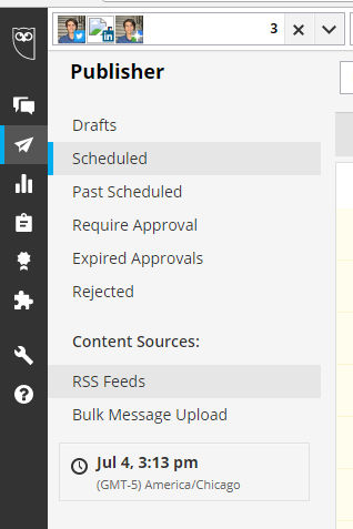 Hootsuite add social RSS feed