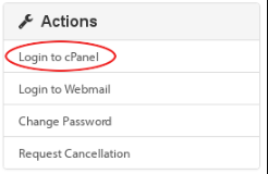 A2hosting Cpanel log in