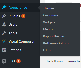 themes section