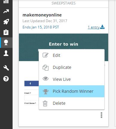 Pick a winner hootsuite