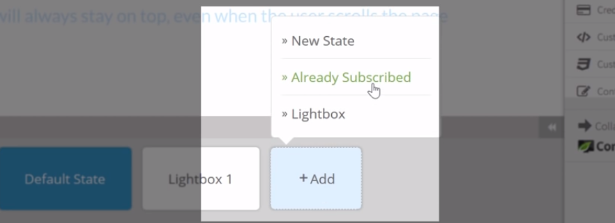add already subscribed state