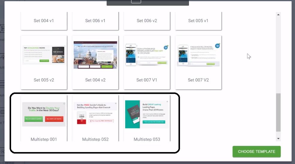 multi step templates