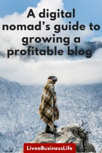 how to start a blog like a digital nomad
